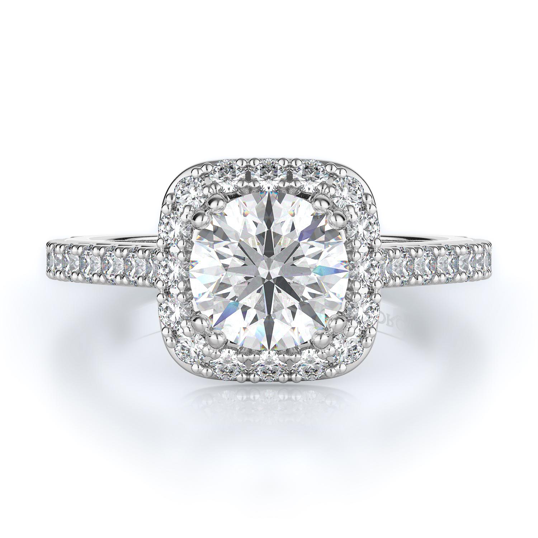 Halo Style Diamond Engagement ring product image