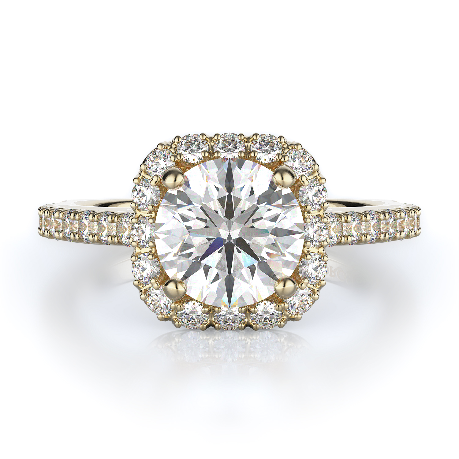Halo Style Diamond Engagement ring product image