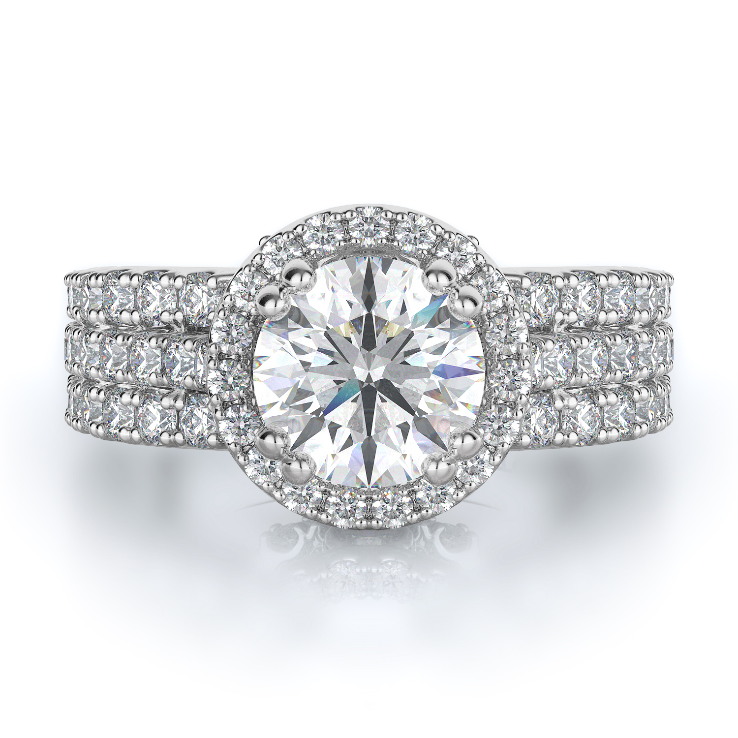 Halo Style Diamond Engagement ring  (Center Diamond Not Included) product image