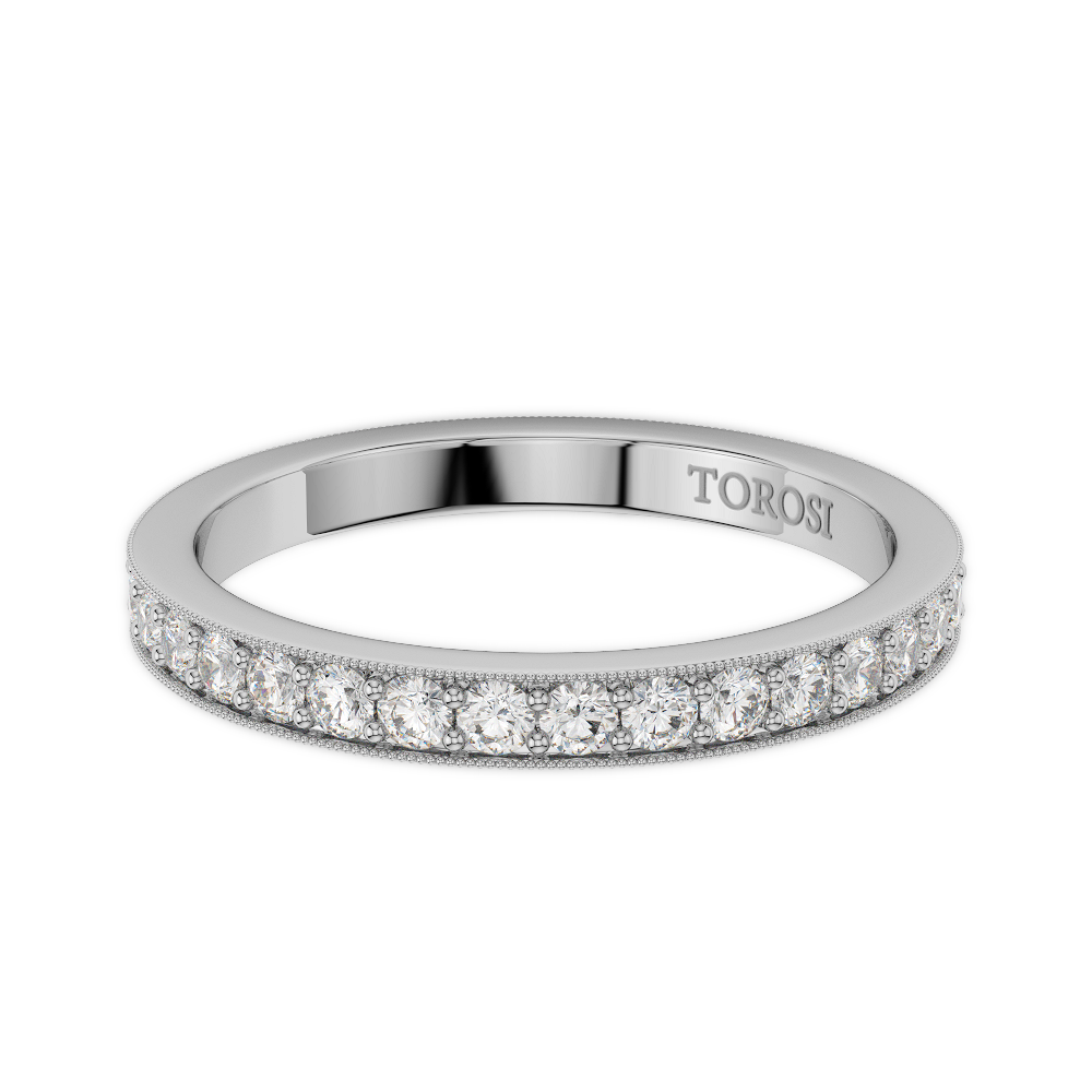 Pave Style Diamond Wedding band