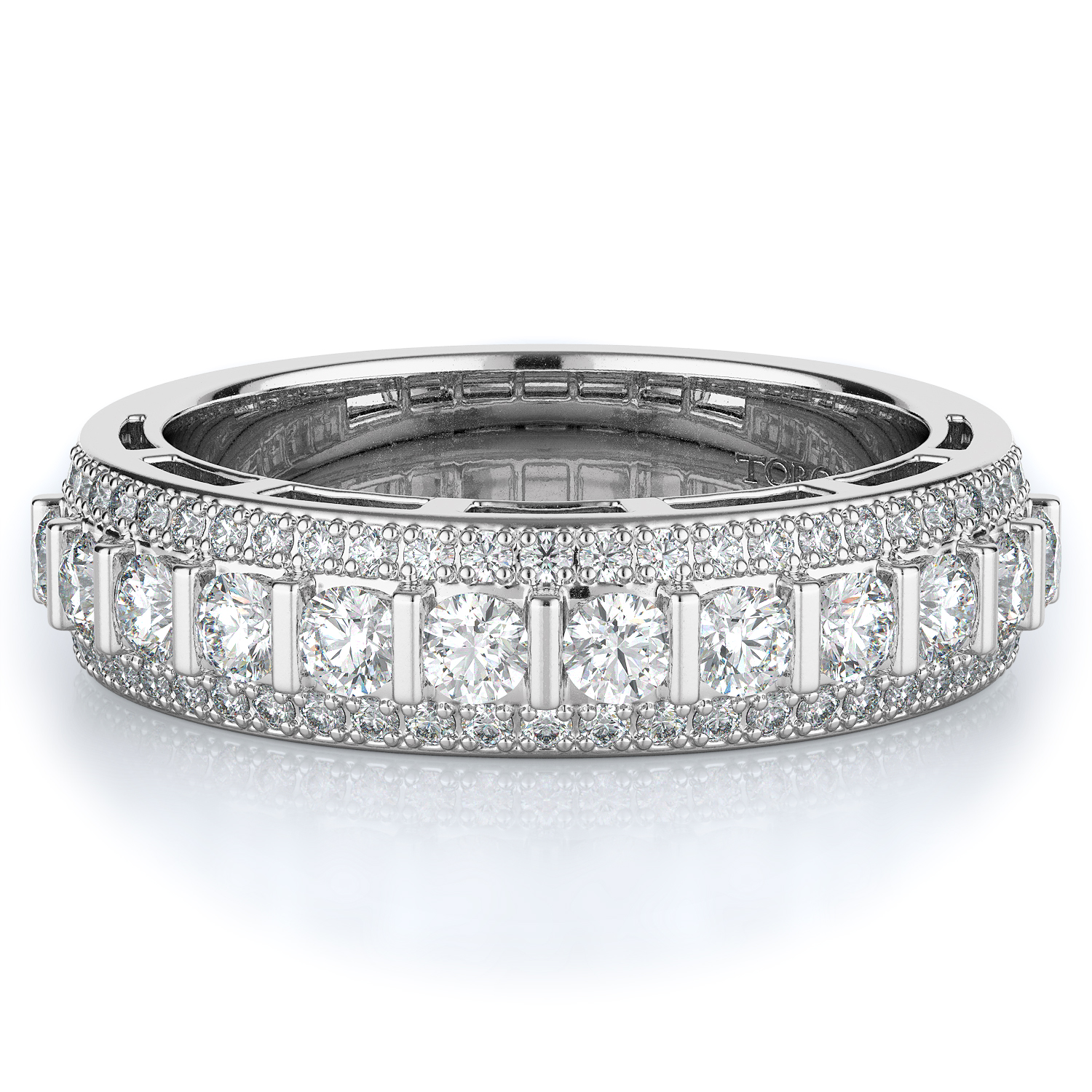 Pave, Tension Style Diamond Wedding band  | 0.75 ctw product image