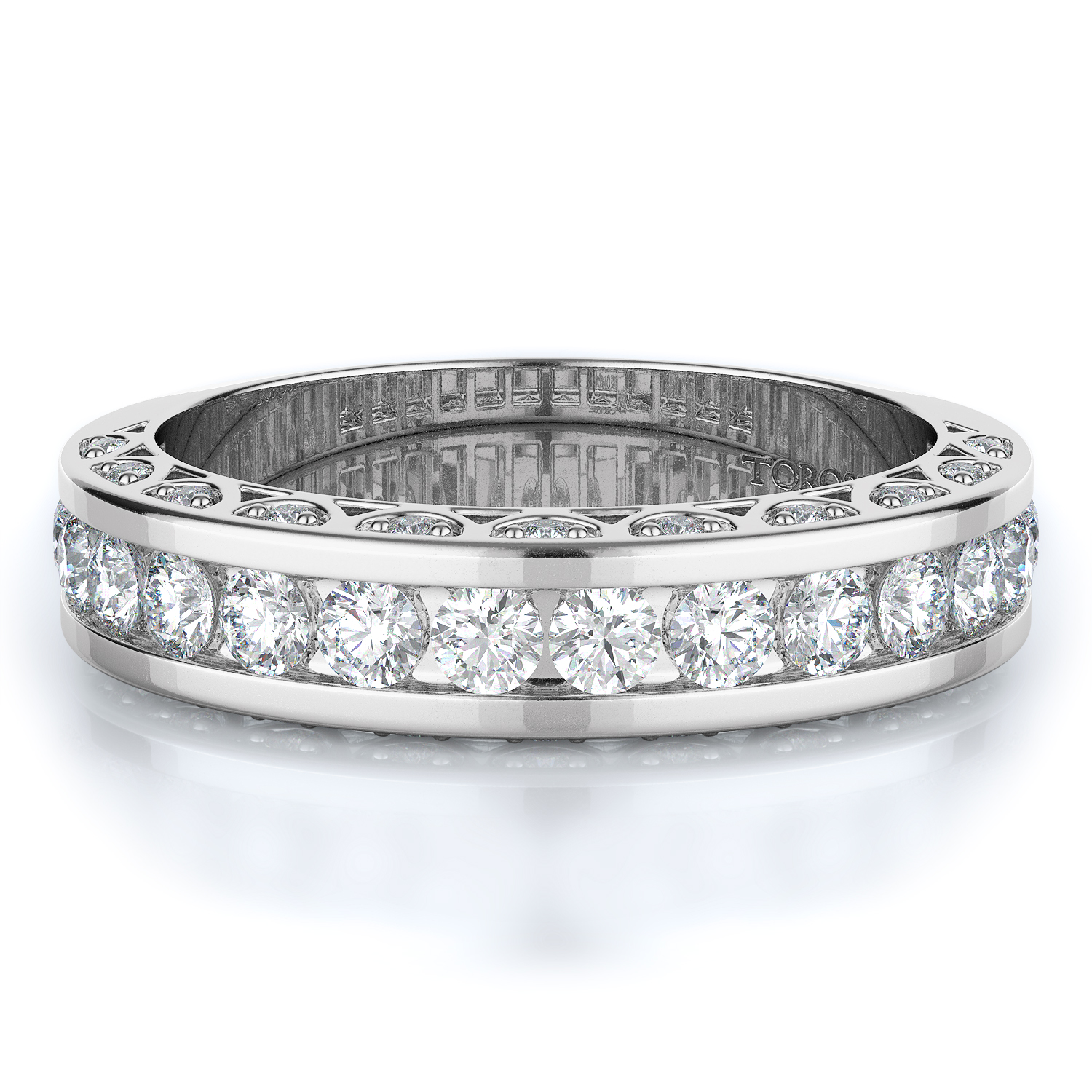 Channel, Pave Style Diamond Wedding band  | 0.82 ctw product image