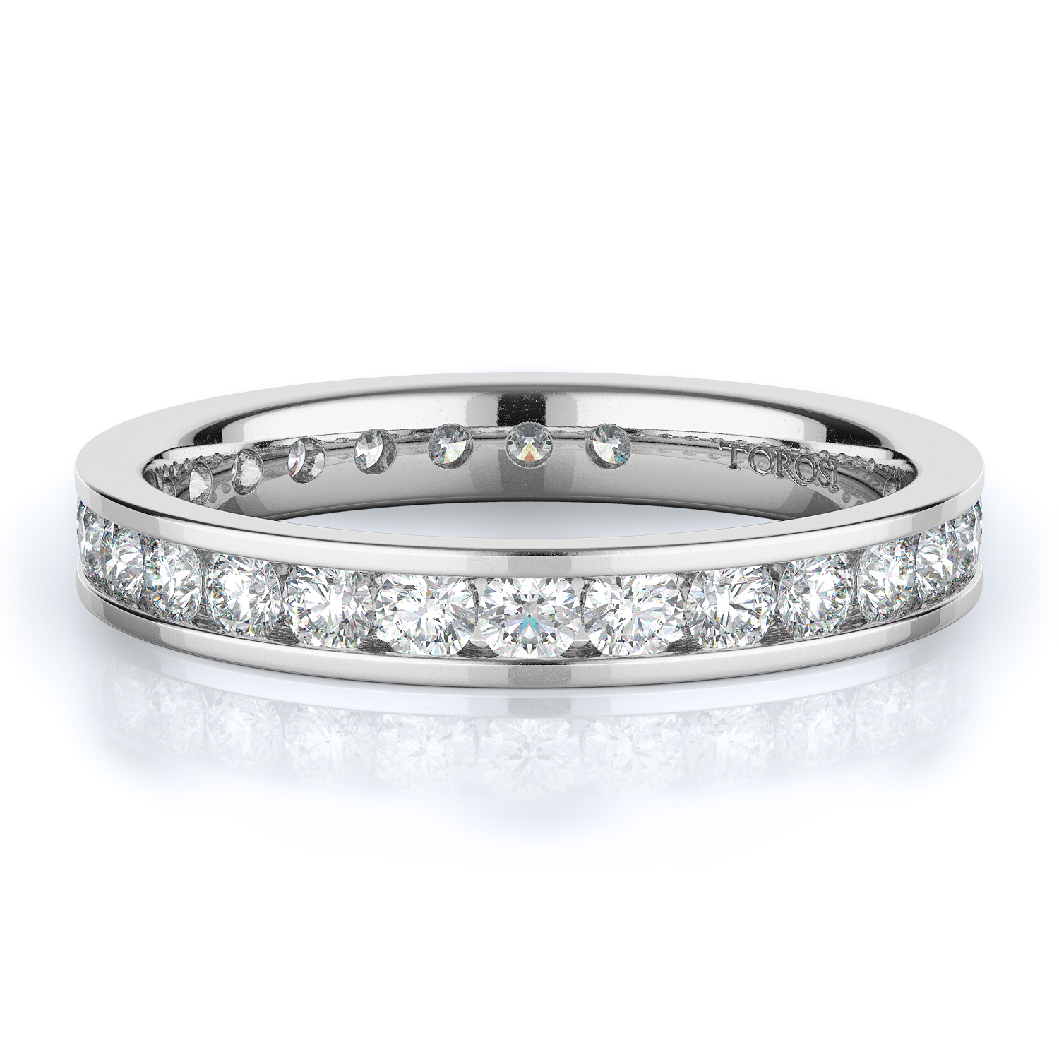 Channel Style Diamond Wedding band