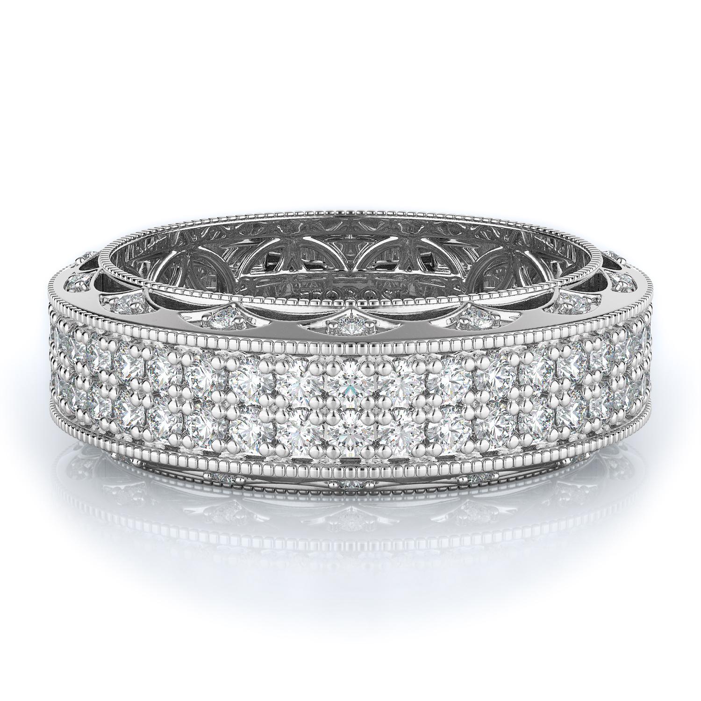 Pave Style Diamond Wedding band  | 1.71 ctw product image