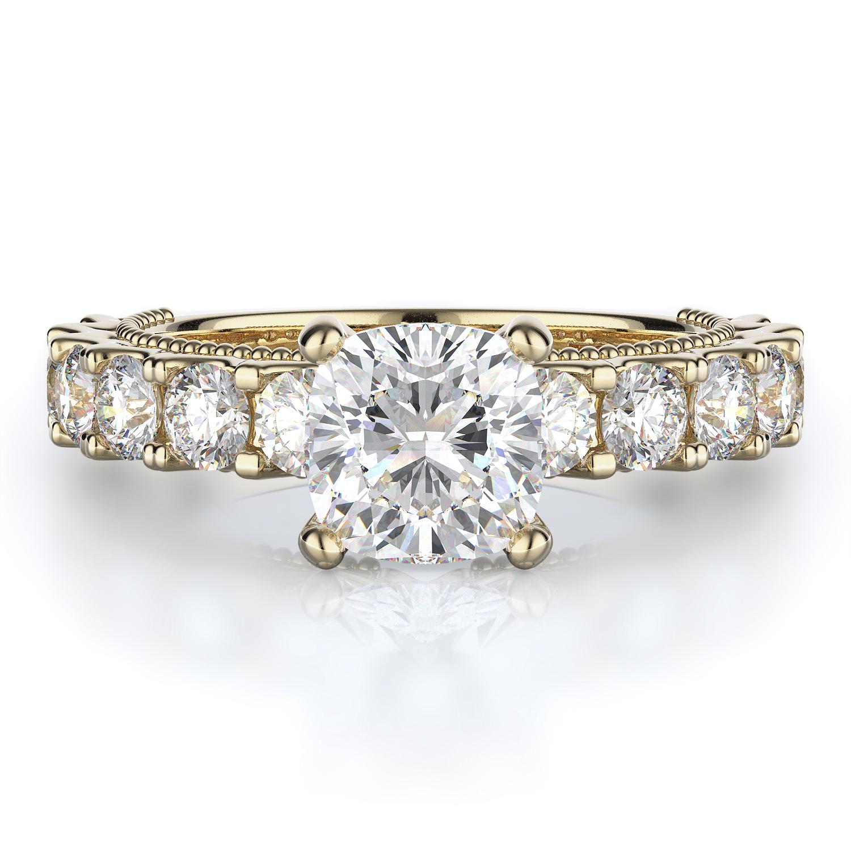 Sidestone Style Diamond Engagement ring product image