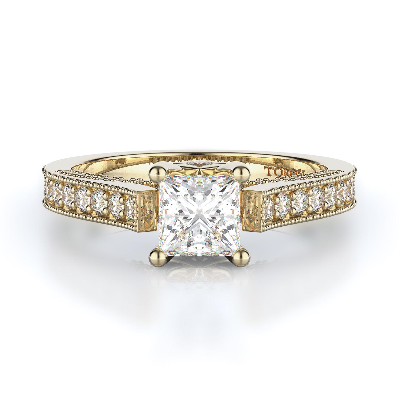 Sidestone Style Diamond Engagement ring  (Center Diamond Not Included) product image