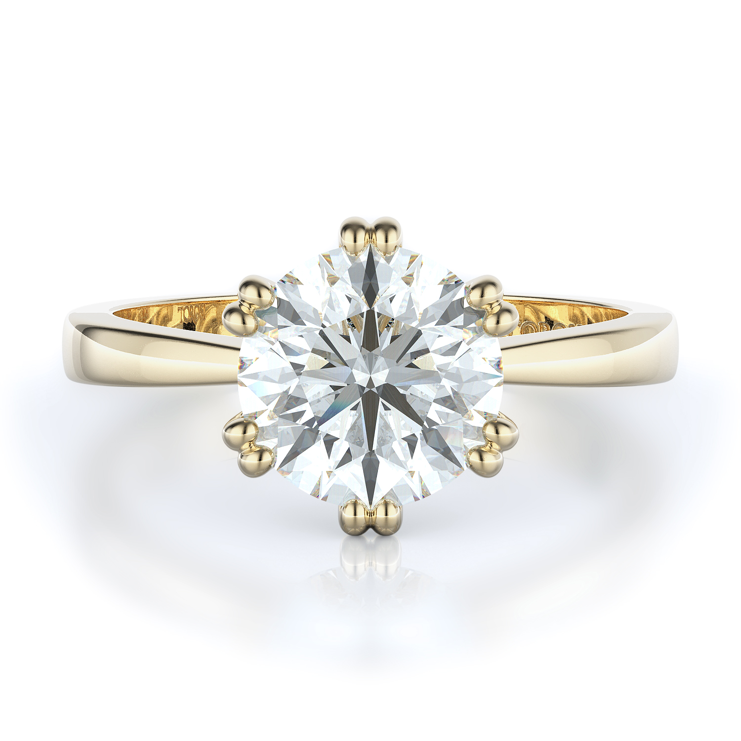 Solitaire Style Diamond Engagement ring  (Center Diamond Not Included) product image