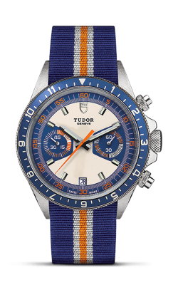<span class='model_name'> Heritage Chrono Blue 42mm Steel</span> <br/> <span class='model_number'>M70330B-0003</span>  product image