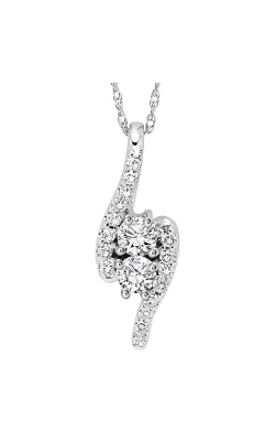 Twogether 14K Diamond Two Stone Pendant TWO1002-25 product image