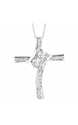 Twogether 14K Diamond Two Stone Pendant TWO1025-75 product image