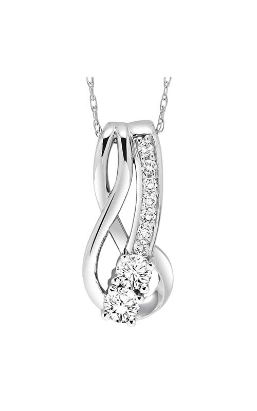 Twogether 14K Diamond Two Stone Pendant TWO1014-25 product image