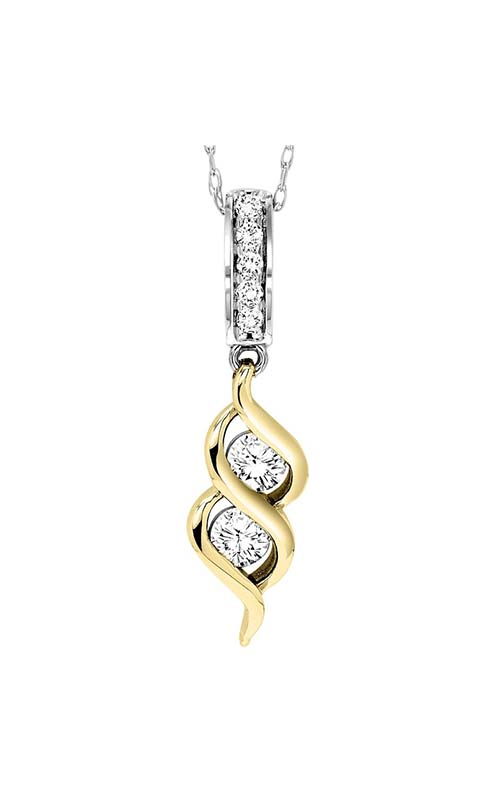 Twogether 14K Diamond Two Stone Pendant TWO1016-25 product image