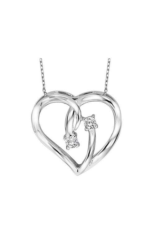 Twogether Silver Diamond Two Stone Pendant TWO1021 product image