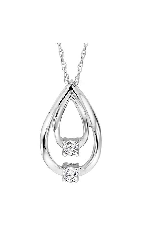 Twogether 10K Diamond Two Stone Pendant TWO1023 product image