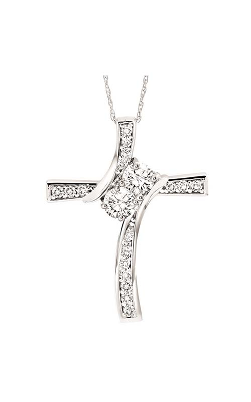 Twogether 14K Diamond Two Stone Pendant TWO1025-25 product image