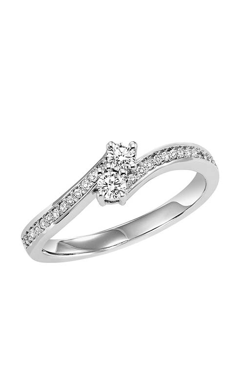 Twogether 14K Diamond Two Stone Engagement Ring TWO3003-25 product image