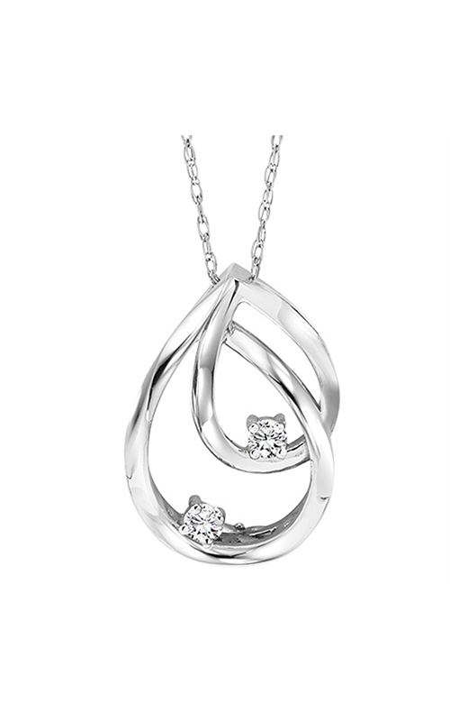Twogether Silver Diamond Two Stone Pendant TWO1022 product image
