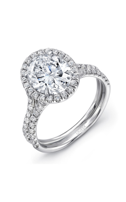 Uneek Silhouette Engagement Ring LVS925-8X6OV product image