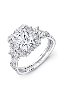 Uneek Silhouette Engagement ring LVS983RAD product image