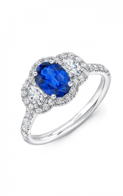 Uneek Royal Blue Engagement ring LVS1019OVBS product image