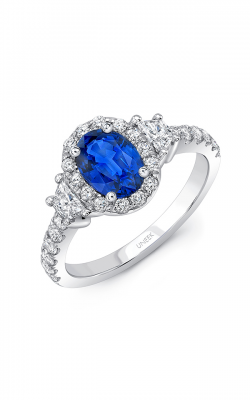 Uneek Royal Blue Engagement ring LVS1008OVBS product image
