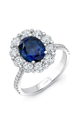 Uneek Royal Blue Engagement ring LVS1015OVBS product image
