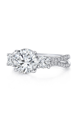 Uneek Silhouette Engagement ring LVS1023RD-8.2RD product image