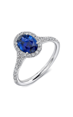 Uneek Royal Blue Engagement ring LVS946OVBS product image
