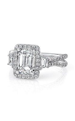 Uneek Silhouette Engagement Ring LVS983EM product image