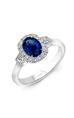 Uneek Royal Blue Engagement ring LVS991OVBS product image