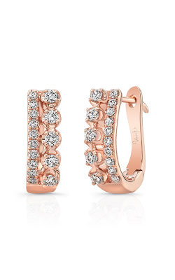 Uneek Arras Diamond Huggie Hoop Earrings LVEW1534R product image