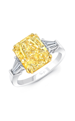 Uneek Radiant Fancy Yellow Diamond Engagement Ring LVS1070RADFY product image