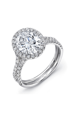 Uneek Oval Engagement Ring LVS925-7X5OV product image