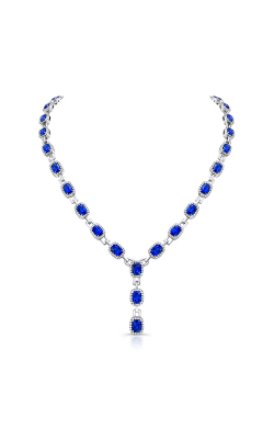 Uneek Cushion-Cut Blue Sapphire Y Necklace LVN529CUBS product image