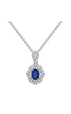 Uneek Oval Blue Sapphire Pendant LVNRI292S product image