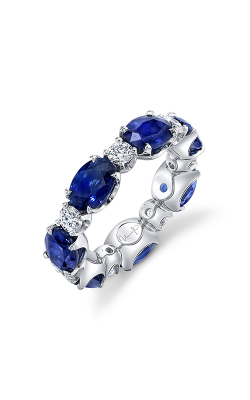 Uneek Oval Blue Sapphire Eternity Wedding Band LVBE169OVBSRD product image