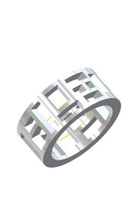 Zina Windows and Fireworks Fashion Ring Z615 product image