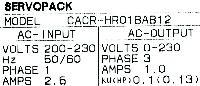 Yaskawa CACR-HR01BAB12