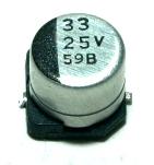 Panasonic CAP-25V-33UF-5.4-6.3-SMD