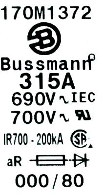 Bussmann 170M1372 image
