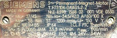 Siemens 1FT5104-0AA01-2-Z label image