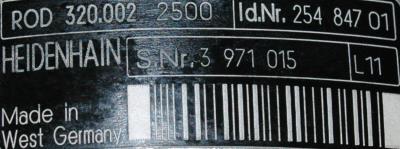 HEIDENHAIN 25484701 label image