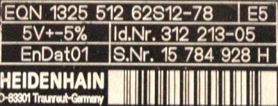 HEIDENHAIN 312213-05 label image