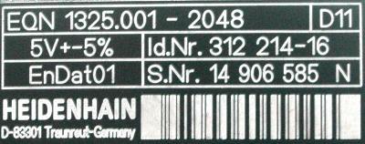 HEIDENHAIN 312214-16 label image