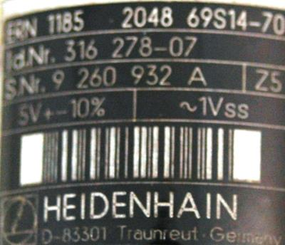 HEIDENHAIN 316278-07 label image