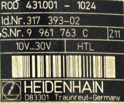 HEIDENHAIN 317393-02 label image