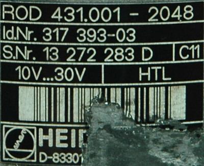 HEIDENHAIN 317393-03 label image