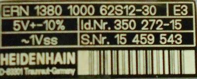 HEIDENHAIN 350272-15 label image