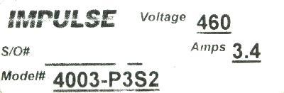 Magnetek 4003-P3S2 label image