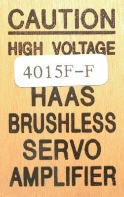HAAS 4015F-F label image